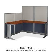 Metal L Shaped Desk Bush Business Furniture Wc36494c1 03 Office In An Hour 65w X 65d L