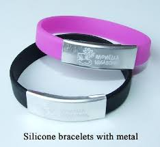 metal silicone bracelet images Amazing art all colors are available customized hand band rs 6 jpg