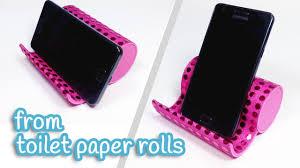 diy crafts phone holder from toilet paper rolls innova crafts