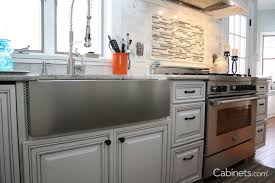 Apron Front Sink Base Cabinet Preparing For A Farm Sink Deerfield Cabinets Com