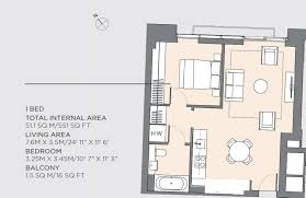 Floor Plan Of Westminster Abbey 1 Bed Property For Sale In Columbia Gardens South West Brompton