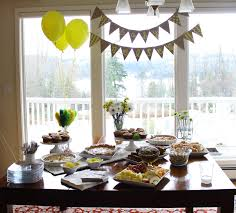 Baby Shower Table Setup by Throwing A Baby Shower Bunting Flags And To Die For Blueberry
