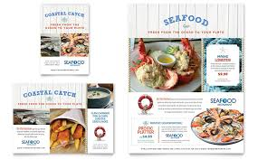 menu publisher template seafood restaurant flyer ad template word publisher
