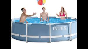 Intex Pool 14x42 Intex 12ft X 30in Prism Frame Pool Set With Filter Pump Youtube