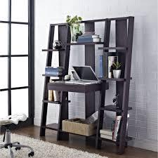 Sauder Ladder Bookcase by Black Oak Wood Ladder Bookcase With Desk For Computer Storage