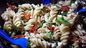 recipe sun dried tomato feta basil u0026 black olive pasta salad