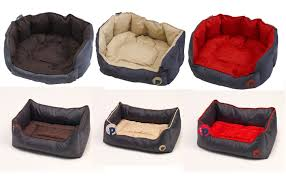 Puppy Beds Petface Waterproof Oxford Pet Bed Puppy Dog Luxury Oval Or Square
