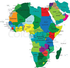 3d africa map vector africa political map stock vector colourbox