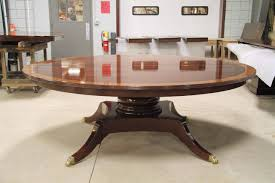 custom american made 84 inch round mahogany dining table custom mahogany table with solid base 84 round expands to 12 foot oval