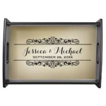 personalized serving tray serving trays food trays zazzle