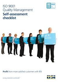 iso 9001 quality management self assessment checklist