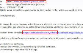 adresse si e bnp paribas information importante à propos du phishing