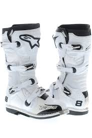 motocross boots size 8 alpinestars white 2015 tech 8 rs mx boot alpinestars