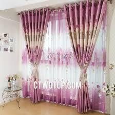 Purple Ombre Curtains Ombre Fuchsia Floral Patterns Blackout Curtains