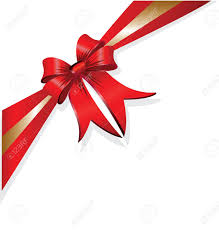 christmas present bows and gold vector christmas gift bow and ribbon royalty free