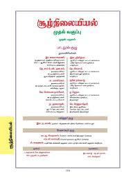 grade standard class 1 tamil medium environmental studies