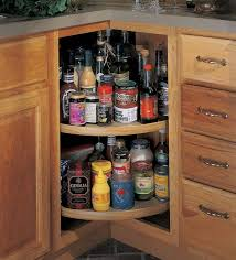 Kitchen Cabinet Spice Racks Imposing Kitchen Cabinet Storage With Two Tier Lazy Susan Spice