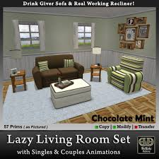 second life marketplace lazy living room set with real working