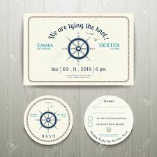 nautical we are tying the knot wedding invitation and rsvp card