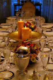 Gold Table Setting by Real People Share Their Thanksgiving Decor U0026 Tablesettings