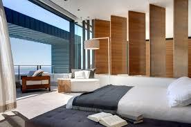 Neutral Bedroom Design - contemporary neutral bedroom with balcony interior design ideas
