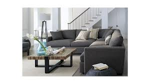 crate and barrel living room sofa beds design stylish modern crate and barrel sectional sofas