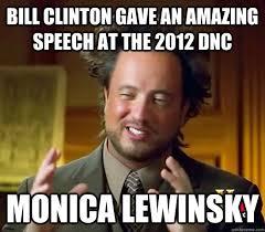 bill clinton gave an amazing speech at the 2012 dnc monica lewinsky