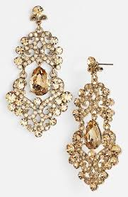 gold chandelier earrings ornate chandelier earrings nordstrom jewelry
