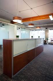 Keller Expandable Reception Desk Modern Open Office Design By Hatch Interior Design Kelowna Bc