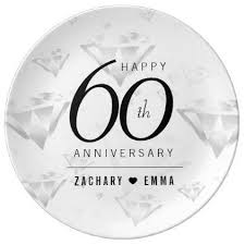 60th wedding anniversary plate best 25 diamond wedding anniversary gifts ideas on