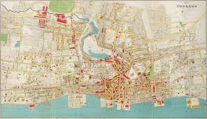 Old Map New York City by Bien U0027s City Of Yonkers New York 1893