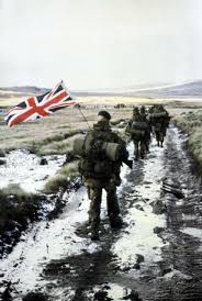 Marines Holding Flag Anchorage Soldier Scholar U0027s Book About Little Known Falklands War