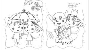 ben and holly u0027s little kingdom superheroes coloring book page