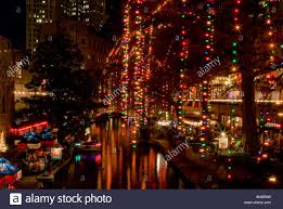 downtown san antonio christmas lights san antonio river walk christmas stock photos san antonio river