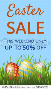 easter eggs sale easter sale web banner with easter eggs on blue background vector