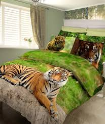 Buy Bed Sheets by Bombay Dyeing Jungle Safari Green Double Bed Sheet With 2 Pillow