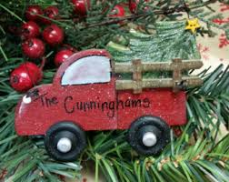 red truck ornament etsy