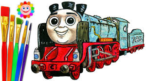 how to draw thomas and friends coloring pages merlin train video