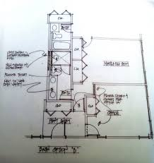 our care free home architect sketch bathroom concept b