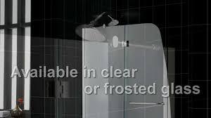 Shower Door Hinged by Aqua Shower Door Aqua Tub Door Hinged Showers Youtube