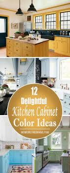 kitchen color ideas yellow 12 delightful kitchen cabinet color ideas home decor image