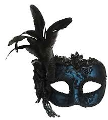 masquerade masks for women antonietta blue masquerade mask with side feather masquerade