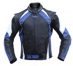 white leather motorcycle jacket leather motorcycle cowhide combi jacket black blue white