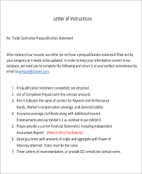 11 letter of instruction templaes free sample example format