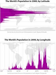 Longitude And Latitude Map Of The World The World U0027s Population In 2000 By Latitude And Longitude Visual Ly