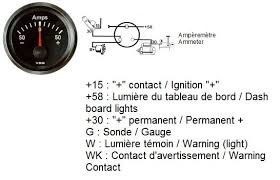 amp gauge wiring diagram amp wiring diagrams instruction
