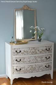 How To Make A Mirrored Nightstand Diy Diy Tutorial Paint And Stencil A Pretty Dresser Is 10 Easy Steps