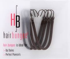 bungees hair hair bungee silicon brown