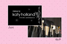 Makeup Business Cards Designs Business Cards Glam It Up Llb Designs