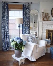 White Curtains With Blue Pattern Best 25 Blue And White Curtains Ideas On Pinterest Navy And